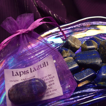 "LAPIS LAZULI ""Psychic Stone"" Psychic Protection, Enlightenment, Manifestation, Open Third Eye Chakra"