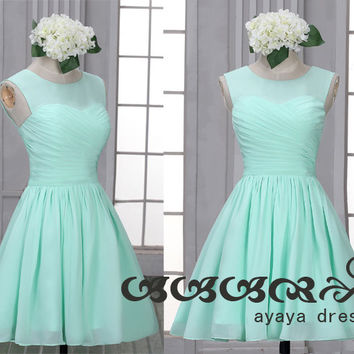 Mint Green Short Bridesmaid Dresses