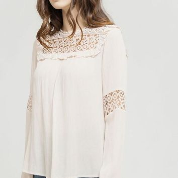 Lace Cut-Out Top