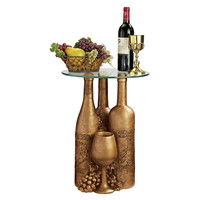 Wine And Dine Glass Topped Table