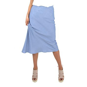 Women's Midi Satin Skirt