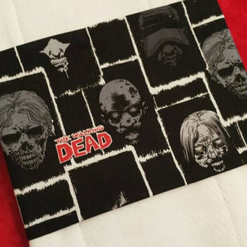 Burp Cloths for Baby Walking Dead Fabric Accent & PERSONALIZATION Avail Too! Designs by Sugarbear Boutique Unique Embroidered Designs