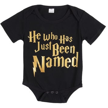 He Who Has Just Been Named Printed Baby Romper