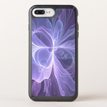 Monogram Purple Abstract Modern Fractal Speck iPhone Case