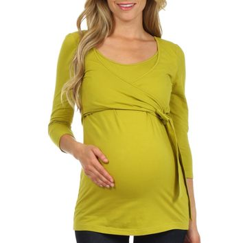 Fashionable Wrap and Tie Nursing Top (FINAL SALE)