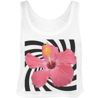 Trippy Tropical: Custom Bella Flowy Boxy Lightweight Crop Top Tank Top - Customized Girl