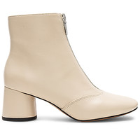 Marc Jacobs Natalie Front Zip Ankle Boot in Off White