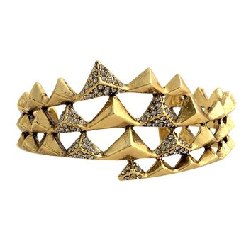 House of Harlow 1960 Jewelry Pyramid Wrap Cuff