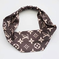 LV Louis Vuitton Supreme Silk Headband Sports Hats Scarf