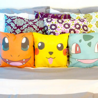 Pokemon character throw pillows