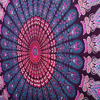 Indian Mandala Tapestry TAPESTRIE Hippie Wall Hanging Bohemian Queen 100% Cotton