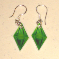 Sims Plumbob (Diamond Thing) STERLING SILVER Earrings
