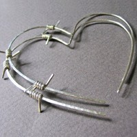 Tough Love Barbed Wire Earrings