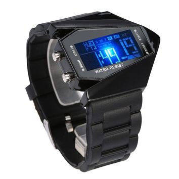Men's LED Digital Wristwatches Black Rubber Strap Band Sports Watches Relogio Masculino Creative Reloj hombre