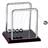 Newton Balance Ball Physic Educational Supplies Cradle Steel Teaching Science Desk Toys kit For Kids Fun Toys T0427 P20 0.5