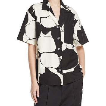 Marc Jacobs Oversized Abstract-Print Camp Shirt and Matching Items