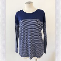 COMFORT ZONE TEE- BLUE STRIPE