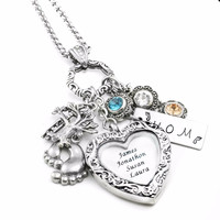 Mothers Heart Locket Necklace