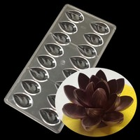 Chocolate Mold,Mould,Kitchen Tool,Baking,Polycarbonate,Lotus Shape,Candy,Water Drop,Fruit,Clear