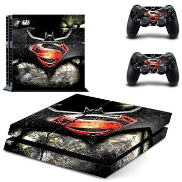 Batman Dark Knight gift Christmas PS4 Designer Skin Game Console System 2 Controller Decal Vinyl Protective Covers Stickers For PlayStation 4--  Batman v Superman AT_71_6