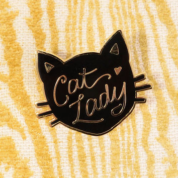 Feline Fellowship Cat Lady Enamel Pin