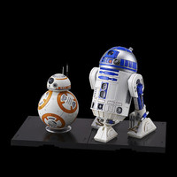 Custom built and painted 1/12 Scale Bandai R2-D2 and BB-8 The Force Awakens