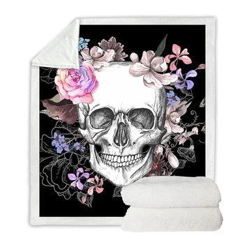 Bohemian Skull Throw Blanket