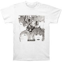 Beatles Men's  Revolver T-shirt White Rockabilia