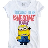 Awesome Minion Graphic Tee | Girls Graphic Tees Clothes | Shop Justice