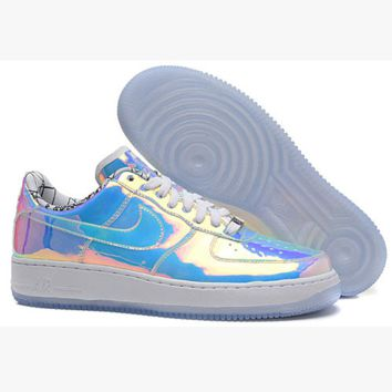 NIKE Women Men Running Sport Casual Shoes Sneakers Air force Low tops White Laser