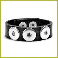 Ginger Snaps 3 Snap Leather Bracelet