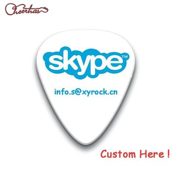 Custom Personalized Guitar Picks Can Print Your Own Logo or Sign Name with Free Shipping
