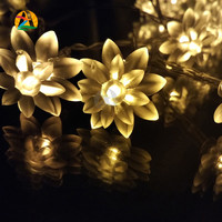 2016 Lotus LED String Lights Multi-color 10M 80LEDs Birthday Anniverssary Parties Decoration Lightings 10M 110V 220V US EU