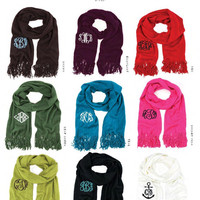 Mongrammed Acrylic Personalized Scarves. A holiday gift favorite!
