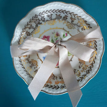 Antique Stetson 22 Kt Gold Cake Plates-Dessert-American Beauty-The Vintage Homemaker-Cupcake Plates-Charming Entertainment-1950's Housewife