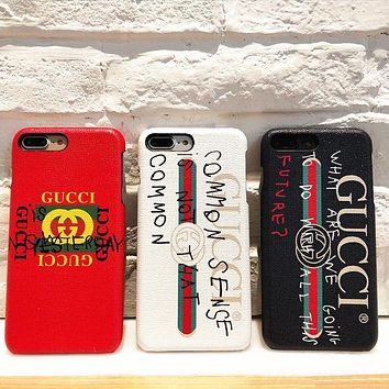 Gucci Fashion iPhone X iPhone 8 iPhone 8 plus - Stylish Cute On Sale Hot Deal Apple Matte Couple Phone Case For iphone 6 6s 6plus 6s plus iPhone 7 iPhone 7 plus G