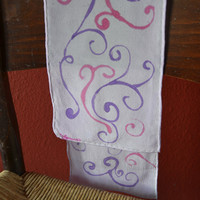 Purple and Pink Silk Scarf