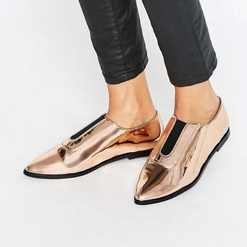 ASOS MATILDA Pointed Flat Shoes at asos.com