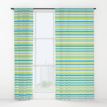 Stripes on white Window Curtains by edrawings38