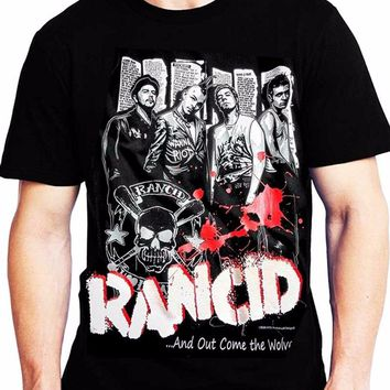 Rancid And Out Come The Wolve Summer Fashion T-Shirt Men's Funny Cool T-Shirt 2018 Short Sleeve Cotton T Shirts Man Clothing