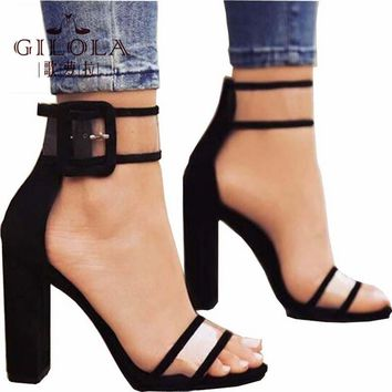 Fashion Platform High Heels PVC Sexy Women Pumps Women Shoes Cut Outs Shoes Spring Summer Casual Woman Black Gold #Y0606747Q