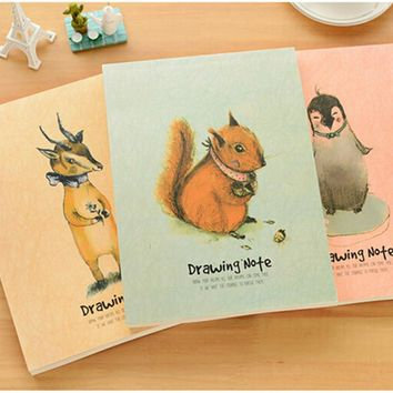 Drawing Note Greatful FriendsNotebook Diary Book Pocket Notepads Sketchbooks Stationery Office Material School Supplies