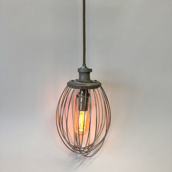 Reclaimed Lighting, Hobart Whisk, Industrial Lighting Pendant, Unique Lighting, Whisk Pendant Light, Farmhouse Lamp, Kitchen Light