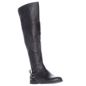 SC35 Dolly Wide Calf Back Stretch Riding Boots, Black, 6 US