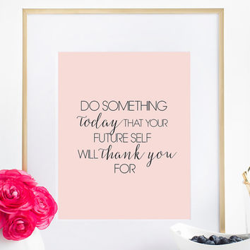 Fun Typography Poster Wall Decor Home Decor Bedroom Decor Office Decor