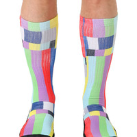 TV Warning Sport Sock