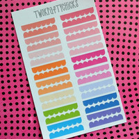 16 Scalloped Border Planner Stickers