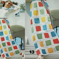 Vintage crochet granny square skirt PDF Instant Download crochet Vintage pattern crochet knitted supplies epsteam knitting pattern squares