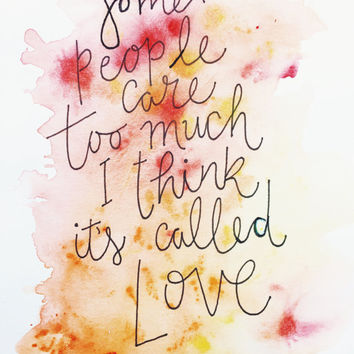 WINNIE the POOH WATERCOLOR quote - original disney winnie the pooh watercolor painting typography