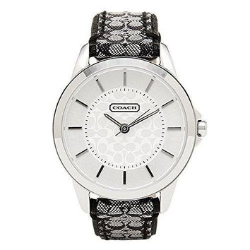 Coach Women's Classic Signature Strap Watch Silver/black Watch